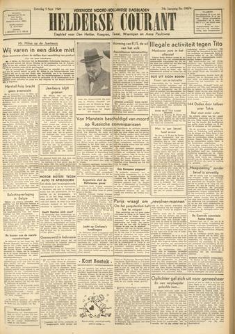 Heldersche Courant 1949-09-03