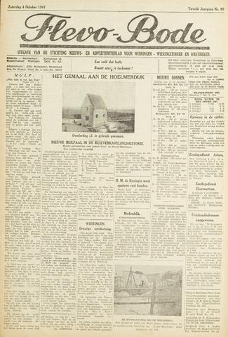 Flevo-bode: nieuwsblad voor Wieringen-Wieringermeer 1947-10-04