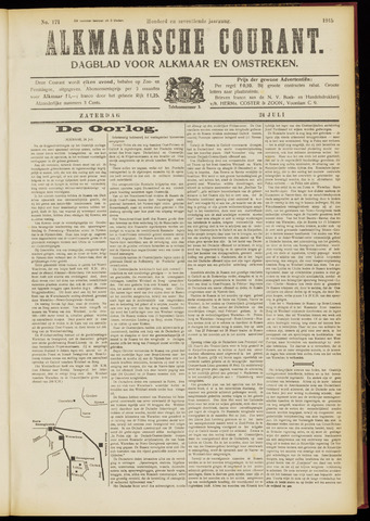 Alkmaarsche Courant 1915-07-24