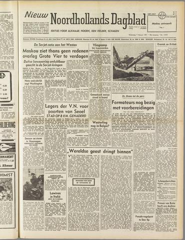 Nieuw Noordhollandsch Dagblad : voor Alkmaar en omgeving 1951-02-07