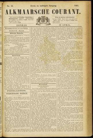 Alkmaarsche Courant 1885-04-12