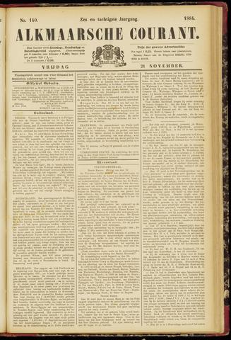 Alkmaarsche Courant 1884-11-21