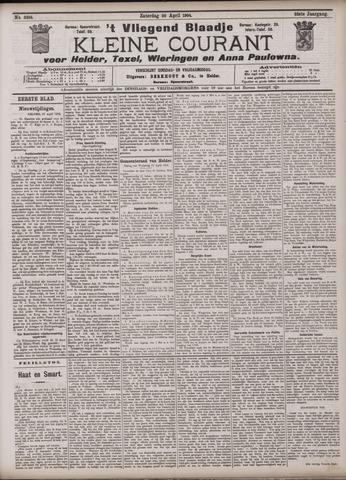 Vliegend blaadje : nieuws- en advertentiebode voor Den Helder 1904-04-30