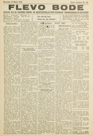 Flevo-bode: nieuwsblad voor Wieringen-Wieringermeer 1946-03-20