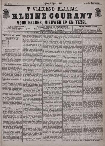 Vliegend blaadje : nieuws- en advertentiebode voor Den Helder 1880-04-09