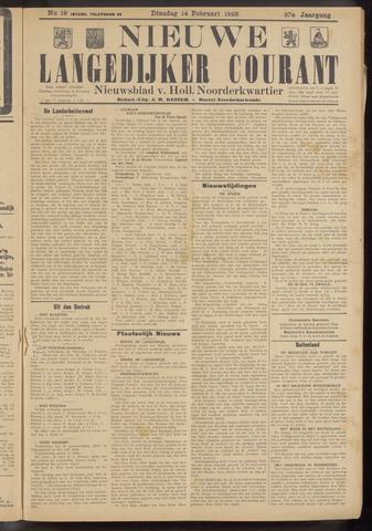 Nieuwe Langedijker Courant 1928-02-14