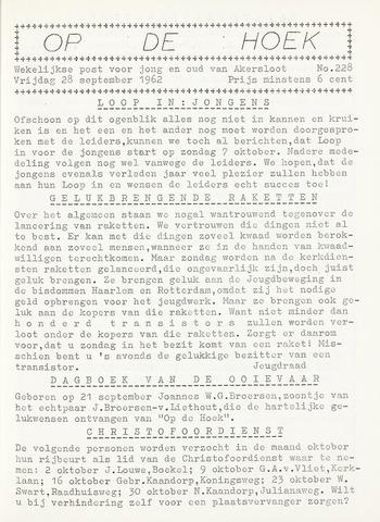 Op De Hoek, weekblad voor Akersloot 1962-09-28