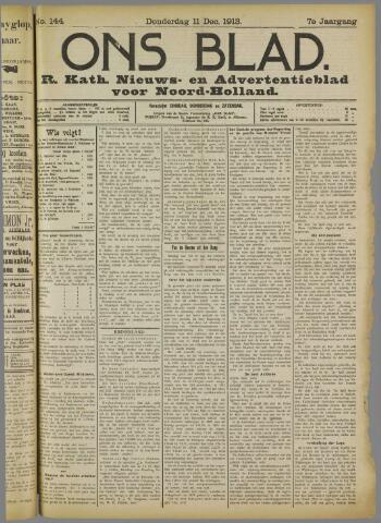 Ons Blad : katholiek nieuwsblad voor N-H 1913-12-11