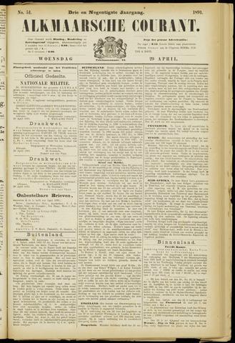 Alkmaarsche Courant 1891-04-29