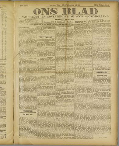 Ons Blad : katholiek nieuwsblad voor N-H 1919-10-23