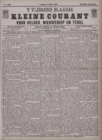 Vliegend blaadje : nieuws- en advertentiebode voor Den Helder 1881-05-10
