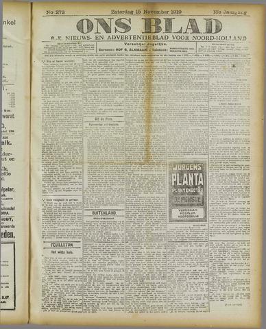 Ons Blad : katholiek nieuwsblad voor N-H 1919-11-15
