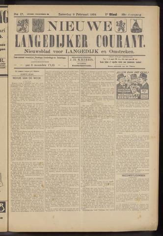 Nieuwe Langedijker Courant 1924-02-09