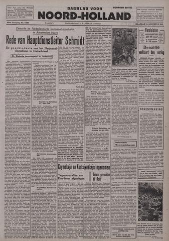 Dagblad Noord-Holland, Schager editie 1942-08-24