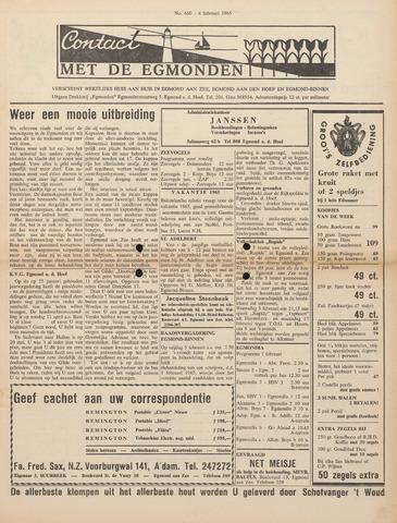 Contact met de Egmonden 1965-02-04
