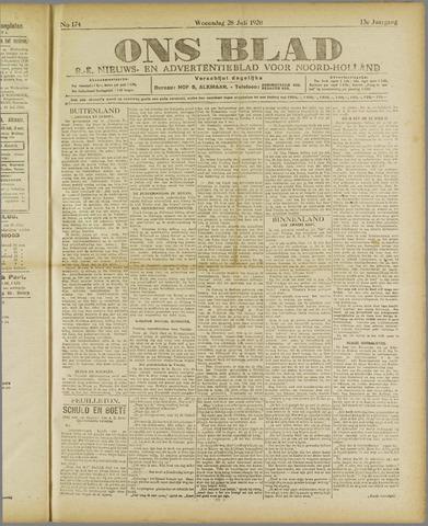 Ons Blad : katholiek nieuwsblad voor N-H 1920-07-28