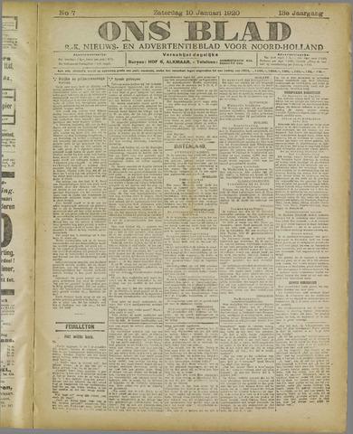 Ons Blad : katholiek nieuwsblad voor N-H 1920-01-10