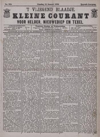 Vliegend blaadje : nieuws- en advertentiebode voor Den Helder 1881-01-11