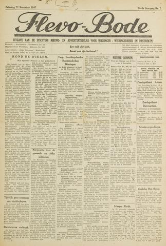 Flevo-bode: nieuwsblad voor Wieringen-Wieringermeer 1947-11-22