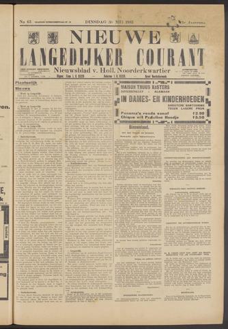 Nieuwe Langedijker Courant 1933-05-30