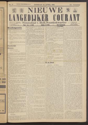 Nieuwe Langedijker Courant 1932-04-12
