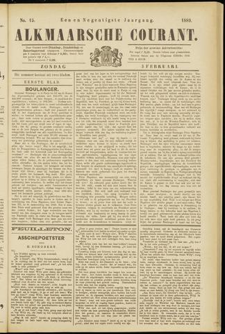 Alkmaarsche Courant 1889-02-03