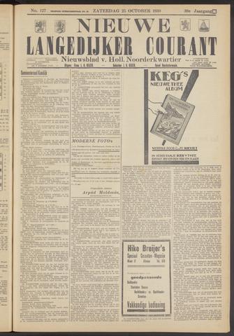 Nieuwe Langedijker Courant 1930-10-25