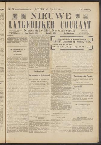 Nieuwe Langedijker Courant 1933-06-22
