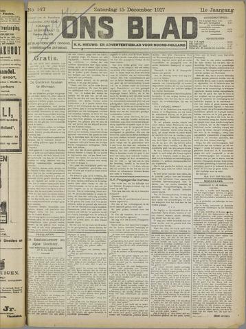 Ons Blad : katholiek nieuwsblad voor N-H 1917-12-15