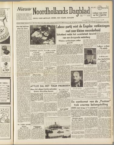 Nieuw Noordhollandsch Dagblad : voor Alkmaar en omgeving 1950-02-25