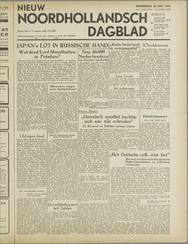 Nieuw Noordhollandsch Dagblad : voor Alkmaar en omgeving 1945-07-26