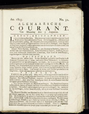 Alkmaarsche Courant 1805-08-05