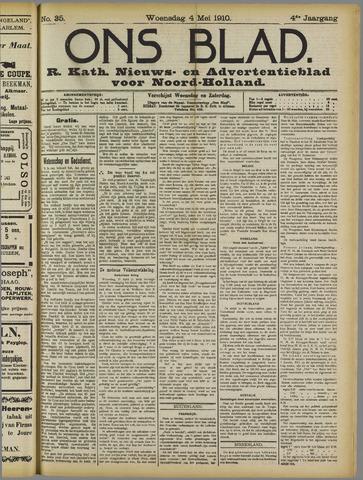 Ons Blad : katholiek nieuwsblad voor N-H 1910-05-04