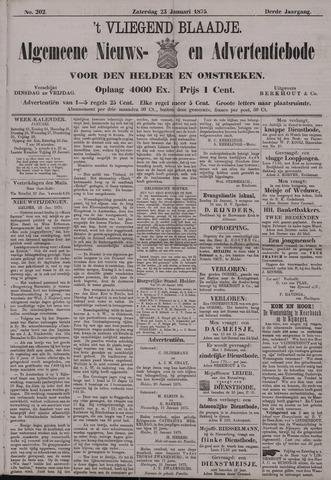 Vliegend blaadje : nieuws- en advertentiebode voor Den Helder 1875-01-23