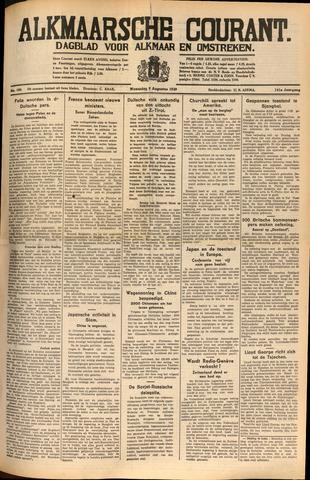 Alkmaarsche Courant 1939-08-09