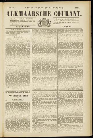 Alkmaarsche Courant 1889-04-03