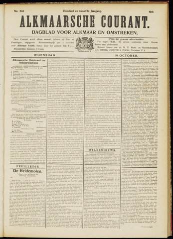 Alkmaarsche Courant 1910-10-19