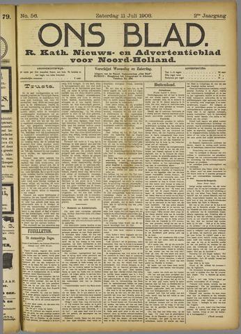 Ons Blad : katholiek nieuwsblad voor N-H 1908-07-11