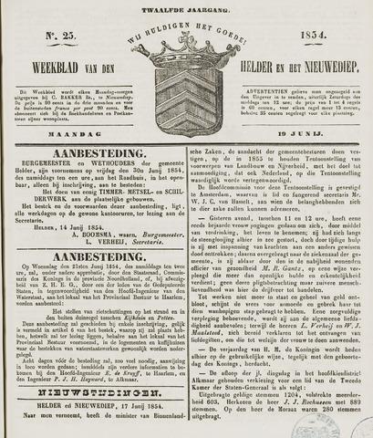 Weekblad van Den Helder en het Nieuwediep 1854-06-19