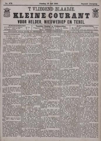 Vliegend blaadje : nieuws- en advertentiebode voor Den Helder 1881-07-19