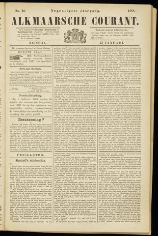 Alkmaarsche Courant 1888-01-22