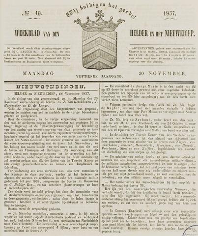 Weekblad van Den Helder en het Nieuwediep 1857-11-30