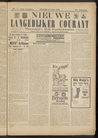 Nieuwe Langedijker Courant 1928-06-23