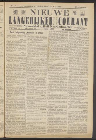 Nieuwe Langedijker Courant 1930-05-22