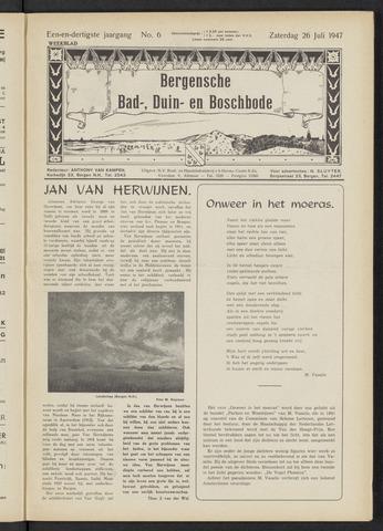 Bergensche bad-, duin- en boschbode 1947-07-26