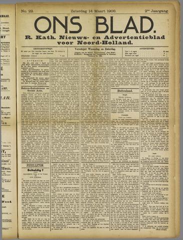 Ons Blad : katholiek nieuwsblad voor N-H 1908-03-14