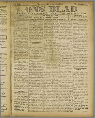 Ons Blad : katholiek nieuwsblad voor N-H 1919-08-13