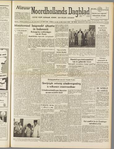 Nieuw Noordhollandsch Dagblad : voor Alkmaar en omgeving 1949-10-18