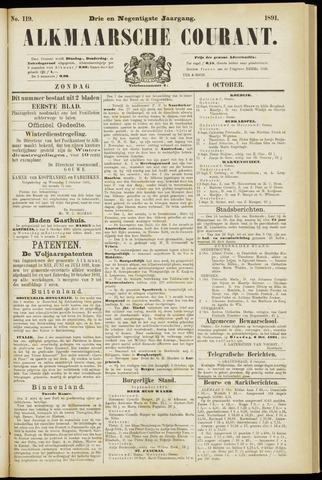 Alkmaarsche Courant 1891-10-04