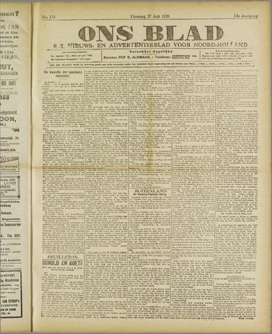 Ons Blad : katholiek nieuwsblad voor N-H 1920-07-27